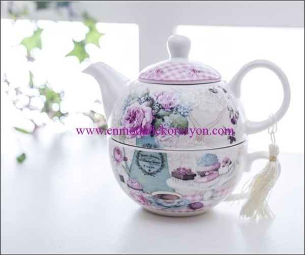 English Home Happy porselen herbal cup-pembe-27,50 TL