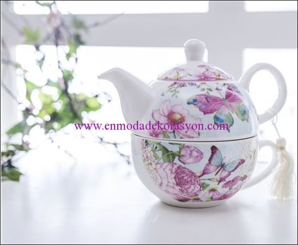 English Home kelebek porselen herbal cup-27,50 TL