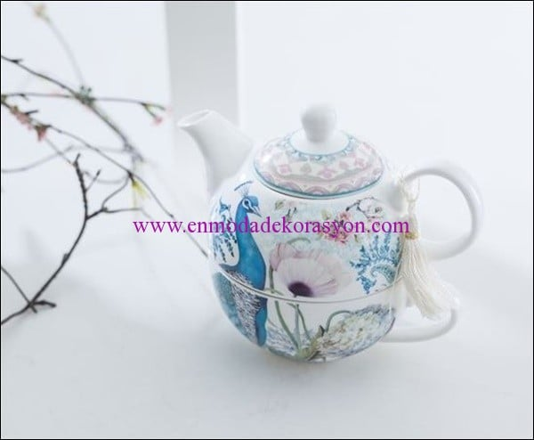English Home porselen herbal cup-turkuaz-27.50 TL